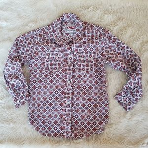 Girls roper long sleeve pearl snap button up XS